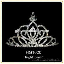 Mini princesa tiara príncipe corona tiara silicona corona real tiara