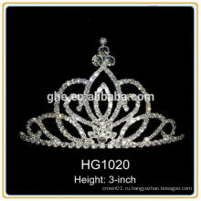 Мини-принцесса тиара принц корона тиара силиконовая королевская корона тиара