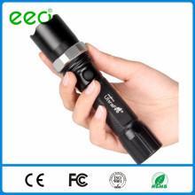 Светодиодный фонарик факел полиции zoomable перезаряжаемые светодиодный фонарик с предупреждающей палкой