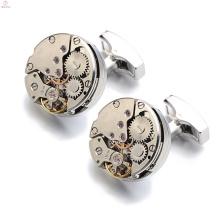 Joia original do cobre do botão do ouro de Rosa, botão de punho de Tourbillon do movimento do relógio