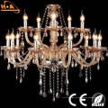 Lámpara de cristal decorativa elegante K9 con bombilla de vela LED