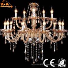 Candelabro de cristal K9 elegante decorativo com bulbo da vela do diodo emissor de luz