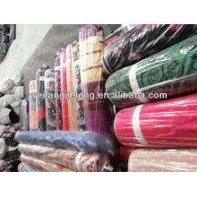 Spun rayon printed fabric stock
