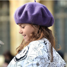 Kids Girls Ladies Wool Warm Angora Winter Autumn Spring Cap Hat Beret (HW805)