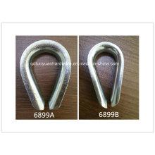 Montaje resistente DIN 6899b carbono acero inoxidable acero cable dedal