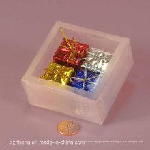 Caja transparente barata del PVC con la ventana (paquete de la impresión de seda)