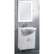 Muebles del gabinete de cuarto de baño de MDF / PVC de 60cm (C-6302)
