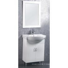 Meubles de Cabinet de salle de bains de 60cm MDF / PVC (C-6302)
