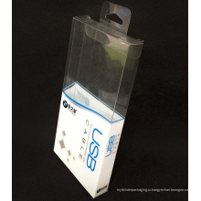 Изготовленное на заказ печатание пластичная складывая коробка упаковки PVC (подарочная упаковка)
