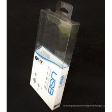 Caja de embalaje plegable plástica del PVC de la impresión de encargo (paquete del regalo)