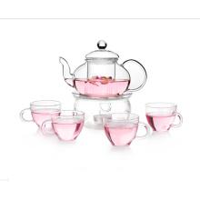 Glastee-Topf-Tee-Set mit Trinkbecher