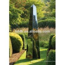 David Harber Obélisques en acier Obélisques de jardin en acier inoxydable poli miroir