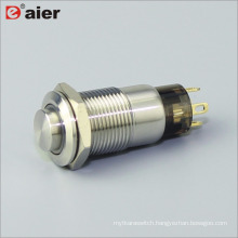 12mm Latching IP68 Waterproof Interruptores Pushbutton