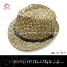 Hot Selling Paper Fedora Hat design novo moda unisex
