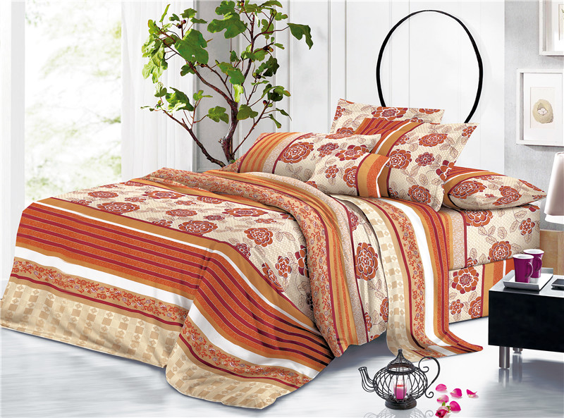 Floral Printed Textiles Bed Sheet
