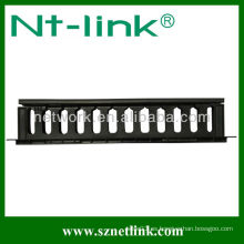 Gestión de bandeja de cables de plástico de 1U