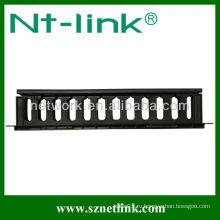 Управление лотком для пластикового кабеля 1U