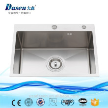 Custom made size undermount kitchen sink 24x18inch crusher with faucet