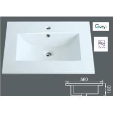 Fregadero del gabinete de cerámica del borde delgado / tapa de la vanidad (A-3122)