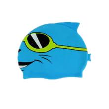 Casquette de natation professionnelle de bande dessinée d'enfants colorés avec le logo fait sur commande