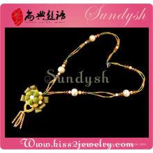 Collar elegante de la estación cristalina de la joyería de la flor hecha a mano
