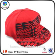 Hot sale screen printed 5 panel cheap snapback hats