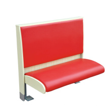 Red Color PU Leather One Side Booth Sofa