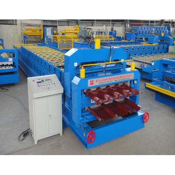 Maroon Glazed Chile 2 Lapisan Tile Roll Forming Machine