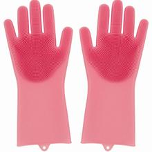 Magic Silicone Cleaning Gloves dengan Wash Scrubber