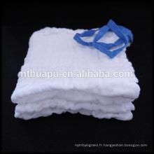 compresse de gaze lavée abdominale faite pour le soin de blessure
