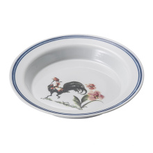 Melamin blau und weiß Geschirr / Melamin tief Platte / Geschirr (D5210)