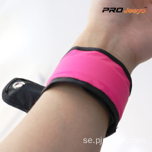 Reflective Pink Woven Fabrics Sport Arm Band