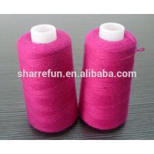 Suministro de stock de hilados de lana de oveja 100% con muchos colores