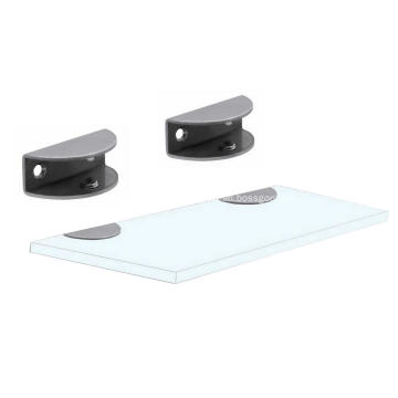 Powder Coated Metal Furniture Glass Shelf Clamp