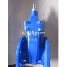 DN65 wcb body non-rising stem resilient soft seated gate valve withou gear worm