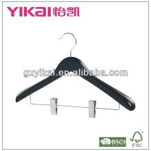 Широкий плечо вешалка для одежды черный цвет в матовой отделке