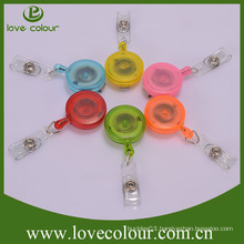 Factory cheap custom Retractable Ski Pass ID Card Badge Holder Key Chain Ring Reels Keyring With Clip