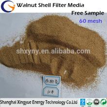 120/150/180 mesh Walnut Shell Powder, suportes de lixa de nogueira