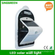 LED de la lámpara de pared solar Smart Solar & Sensor LED de la pared de la luz Ce RoHS
