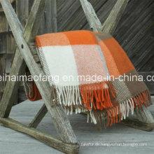 Woven Woolen Pure Virgin Neu Plaid Wolle werfen