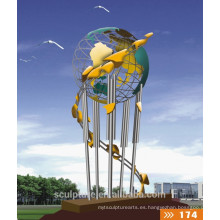 2016 nueva escultura moderna simbólica para el jardín y al aire libre