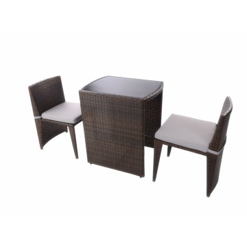 Best Price on for Outdoor Patio Furniture 3pc coffee sapce- saving rattan set supply to Congo Wholesale