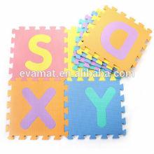 2016 nouveau design non-toxique enfants alphabet mousse tapis de jeu, tapis de puzzle de bébé, tapis de sol à usage domestique