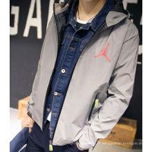 jaquetas reflexivas da segurança cinzenta clara alta da segurança / revestimento reflexivo da segurança