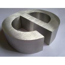 Carta no iluminada del acero inoxidable del metal cepillado y pulido para firmar letras de la publicidad