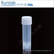 Tubo de amostra de transporte de 5 ml com tampa de parafuso