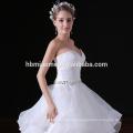 Vestido de boda del vestido de bola de la volante hinchada blanca del piso de la longitud del vestido de noche de Taobao