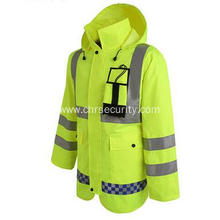 Hi-vis reflective safety coat