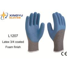 10g T/C Shell Latex Foam 3/4 Coated Safety Work Glove (L1207)