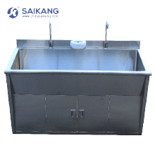 SKH036-2 Medicine Steel SUS 304 Material Washing Sink For Hospital